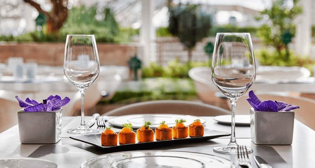 Six ways to incorporate local cuisine into your wedding menu. Photo by Hotel Arts Barcelona